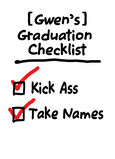 Graduation Checklist 5x7 Folded Card