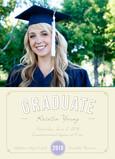 Elegant Grad Certificate 5x7 Flat Card
