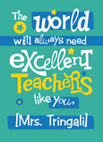 Excellent Teachers 5x7 Folded Card