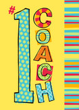 Number 1 Coach 5x7 Folded Card
