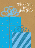 Blue Gifts 5x7 Folded Card