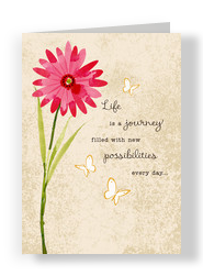 Flower Life is Journey 5x7 Folded Card