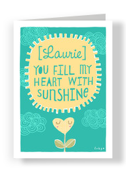 Sunshine Heart 5x7 Folded Card