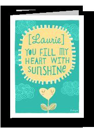 Sunshine Heart 5x7 Folded Card