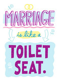 Marriage Toilet Seat 5x7 Folded Card