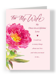 Pink Flower Wife 5x7 Folded Card