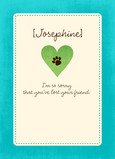 Pet Heart Sympathy 5x7 Folded Card