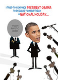 Obama National Holiday 5x7 Folded Card
