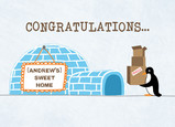 Igloo Sweet New Home 7x5 Folded Card