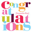 Colorful Congratulations 4.75x4.75 Folded Card