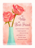 Wife and Best Friend 5x7 Folded Card