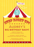 Circus Birthday 5x7 Flat Card
