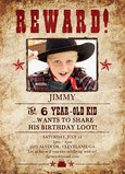Outlaw Reward 5x7 Flat Card
