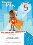 Superhero Birthday 5x7 Flat Card