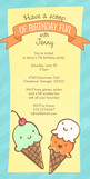 Ice Cream Birthday 4x8 Flat Card