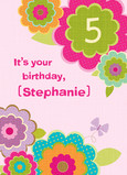 Flower Birthday 5x7 Folded Card