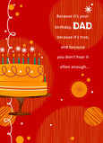 Orange Cake for Dad 5x7 Folded Card