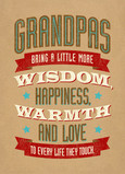 Grandpas Wisdom 5x7 Folded Card