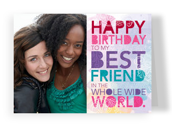 Bright Best Friend Frame 7x5 Folded Card