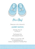 Baby Boy Shoes 5x7 Flat Card