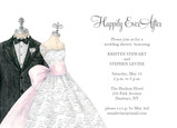 Bride and Groom Mannequin 7x5 Flat Card