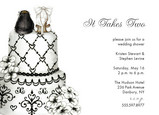 Formal Bridal Cake 7x5 Flat Card