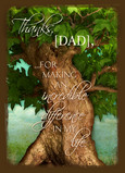 Dad Tree 5x7 Folded Card