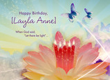 Lily Candles 7x5 Folded Card