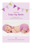 Pink Flags Birth 5x7 Flat Card