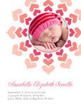 Pink Heart Frame 5x7 Flat Card