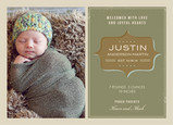 Green Vintage Baby 7x5 Flat Card
