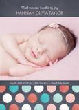 Pastel Dots 5x7 Flat Card