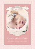 Introducing Baby Girl 5x7 Flat Card
