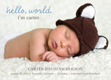 Blue Hello World 7x5 Flat Card