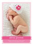Pink Girl Banner 5x7 Flat Card