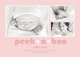 Pink Peek a Boo 7x5 Flat Card