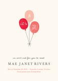 Pink Balloons 5x7 Flat Card