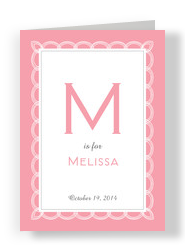 Pink Ribbon Frame 5x7 Folded Card