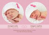 Pink Circle Twins 7x5 Flat Card