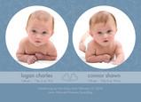 Blue Circle Twins 7x5 Flat Card