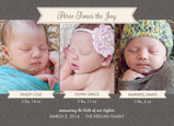 Brown Banner Triplets 7x5 Flat Card