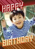 Zoom Happy Birthday 5x7 Folded Card