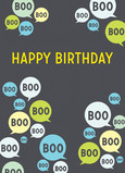 Boo Birthday 5x7 Folded Card