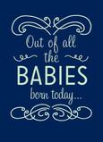 All The Babies 5x7 Folded Card