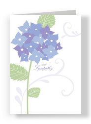 Purple Flowers 5x7 Folded Card