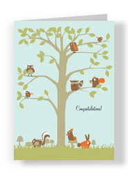 Tree Creatures 5x7 Folded Card