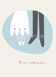 Bride and Groom Shoes 5x7 Folded Card