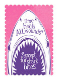 Shark Bite Wounds 5x7 Folded Card