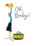 Oh Baby 5x7 Folded Card