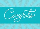 Sparkle Congrats 7x5 Folded Card